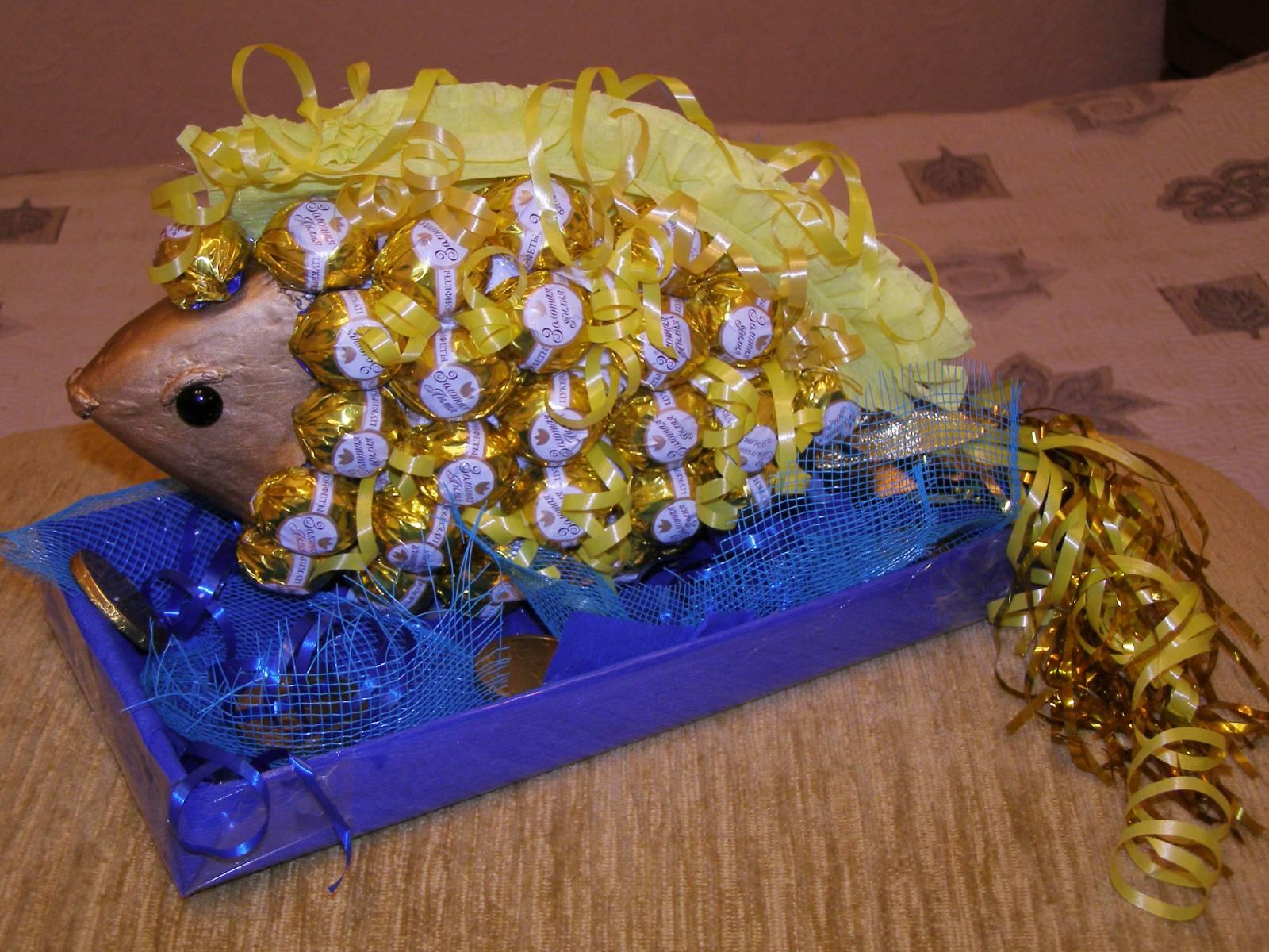 Золотая рыбка из конфет своими руками пошаговое фото для начинающих 55
